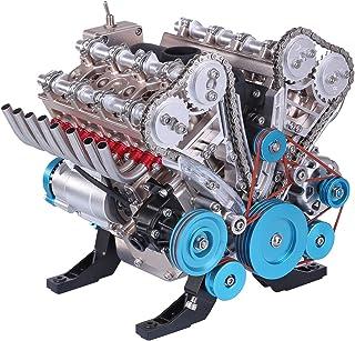 Morton3654Mam TECHING V8 Modèle de moteur à monter soi-même en métal avec 8 cylindres