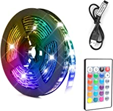 LED Light Strip 5M Baytion Waterproof Light Strip with 12V Remote Control 5050RGB Colors for Party/Bar/Kitchen Bedroom Dec...