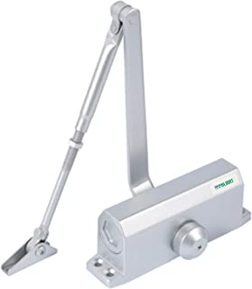 Palmate Automatische instelbare hydraulische deursluiter (60-85 Kg, Zilver)