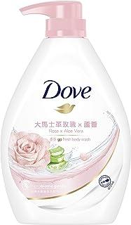 Dove Go Fresh Rose and Aloe Vera Paraben-Free Body Wash, 1L