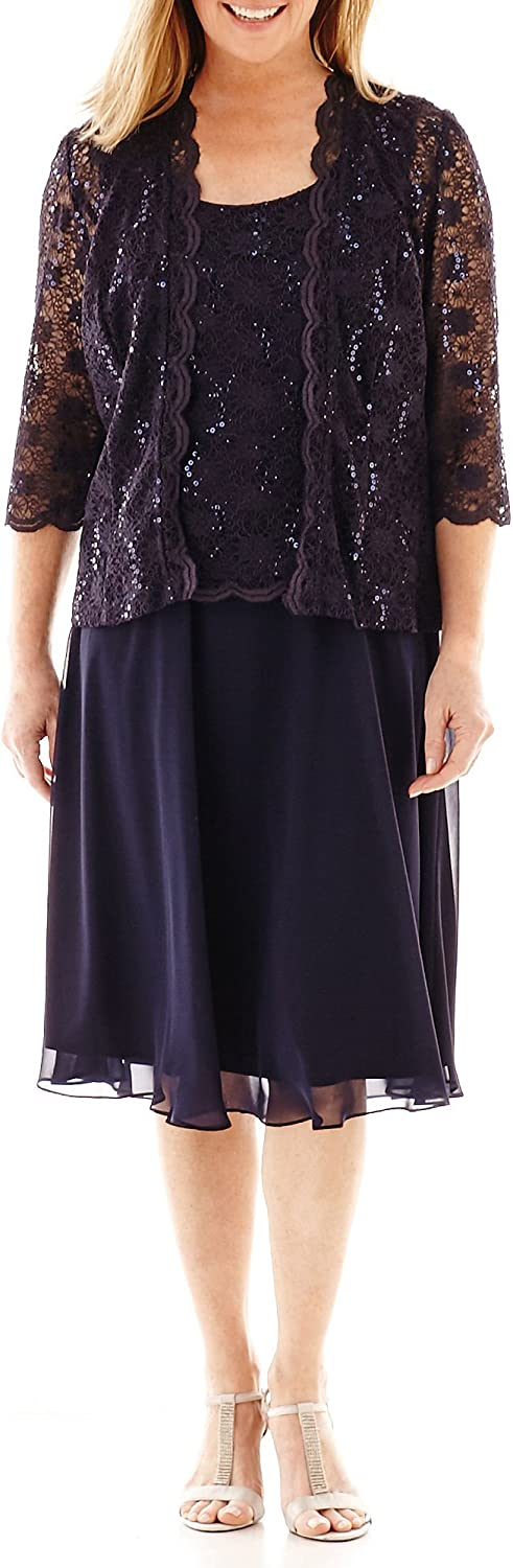 R&M Richards Women's Full Coverage Mother of The Bride Dress