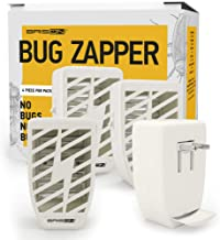 Indoor Plug-in Bug Zapper - 4 Pack - 3.5 W / 110v with UV Light - Power Portable Home Electric Insect Trap - Odorless Noiseless - Removes Flies Mosquitos Gnats Moth and Bugs - Beige