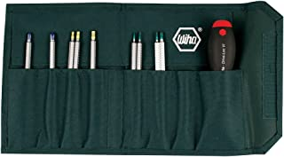 Wiha 28199 Drive-Loc VI Interchangeable Blade Set In Durable Pouch, 10 Piece
