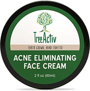 TreeActiv Acne Eliminating Face Cream, Tea Tree Natural Extra Strength Fast Acting Treatment for Clearing Facial Acne, Gentle Enough for Sensitive Skin, Adults, Teens, Men, Women, 2 fl oz