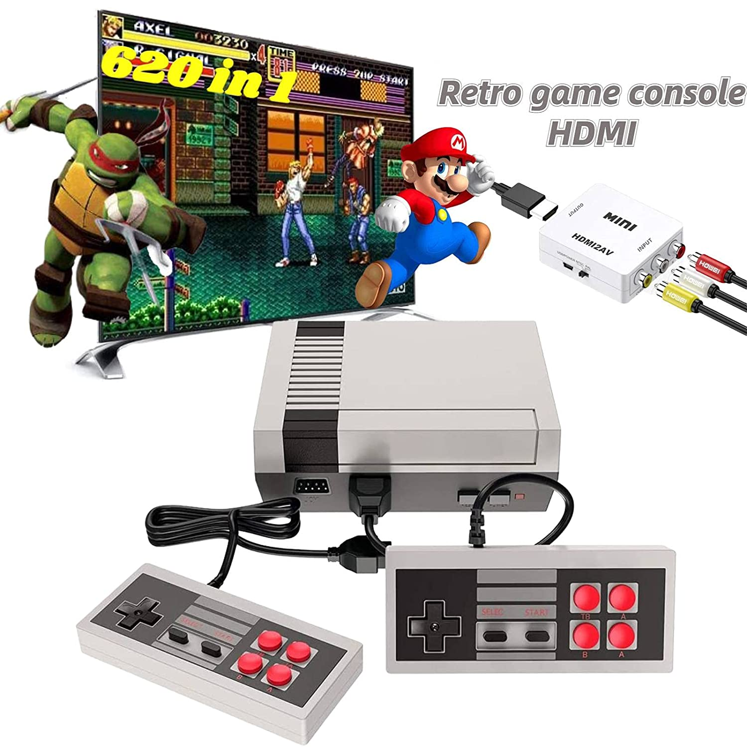 Classic Mini NES Retro Game Console with Video Built-in NEW before selling 620 Max 87% OFF