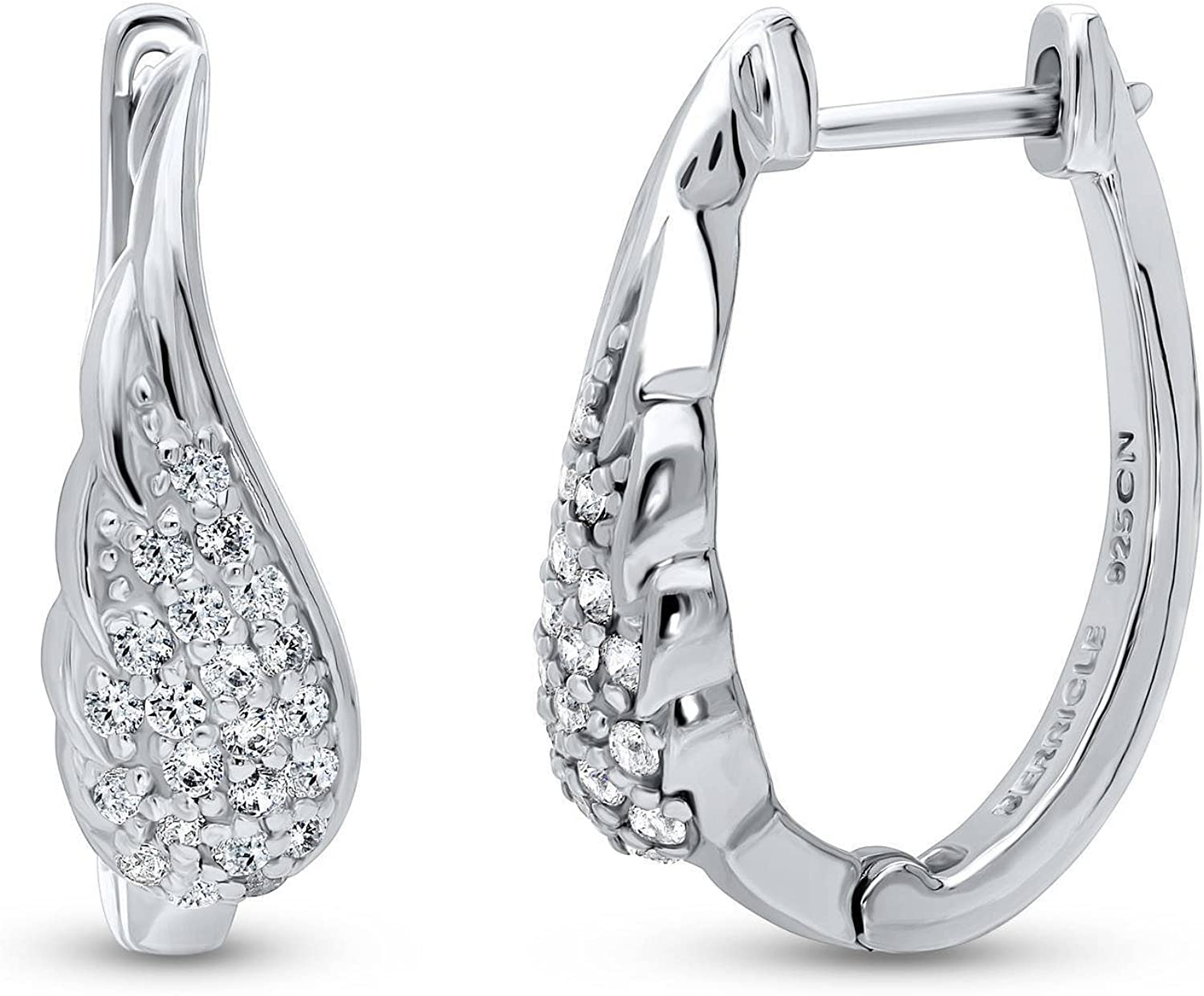 BERRICLE Branded goods Rhodium Plated Sterling Silver Oval A Sales results No. 1 CZ Cubic Zirconia
