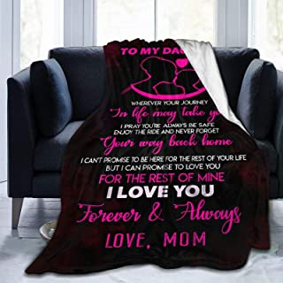 To My Daughter Blanket From Mom Custom Quilt Fleece Throw Blankets Comforters Tapestry Christmas Birthday Little Girls Kid...
