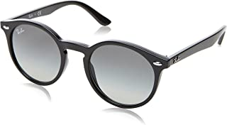 Ray-Ban Kids' Injected Unisex Sunglass Round, Black, 44 mm
