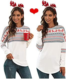 Christmas Sweatshirt for Women, Loose Christmas Sweater White Tunic White Hoodie Pullover Winter Tops