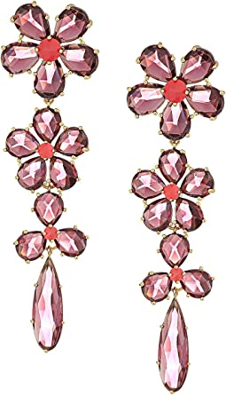 Kate Spade New York - In Full Bloom Linear Statement Earrings