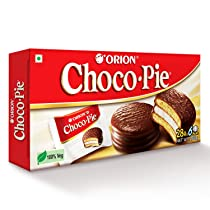 ORION Choco Pie – Chocolate Coated Soft Biscuit 6 Pcs Pack, 168 g