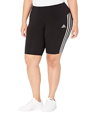 adidas Plus Size Must Have Shorts (Black/White) Women