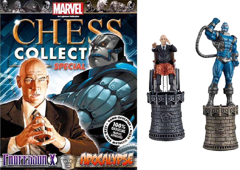 Marvel Professor X and Apocalypse Chess Piece with Collector Magazine B014LMRZ0A Queensland  | Einfach zu spielen, freies Leben