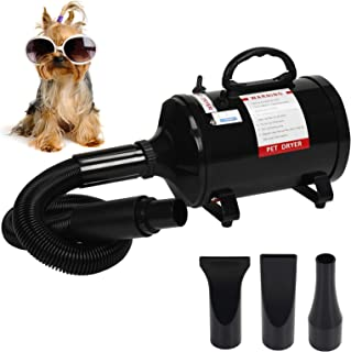 Display4top 2400W Dog Blower,Professional Portable Dog Dryer,3.2HP Speed Adjustable Heat Temperature Pet Dog & Cats Hair D...