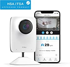 Miku Smart Baby Monitor - Smart Video Baby Monitor - Contact-Free Real-Time Breathing - HD Video & Audio, Night Vision, Two-Way Talk, Motion, Sound, Humidity & Temperature Detection - HSA/FSA Approved