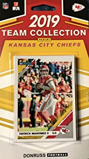 Kansas City Chiefs 2019 Donruss Factory Sealed 12 Card Team Set with Patrick Mahomes, Travis Kelce and a Mecole Hardman Rated Rookie Card Plus 9 Other Players