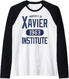 Marvel X-Men Property Of Xavier Institute Raglan Baseball Tee