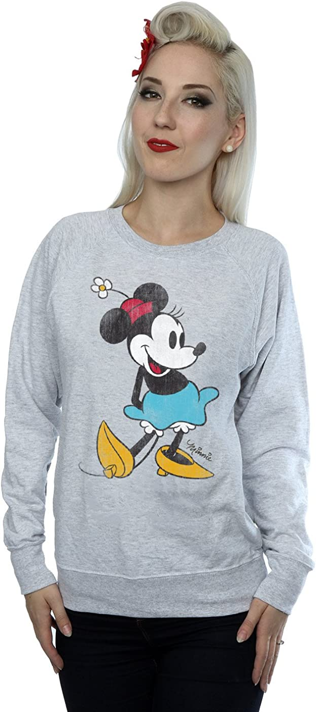 Disney Women's Classic Minnie Mouse Sweatshirt