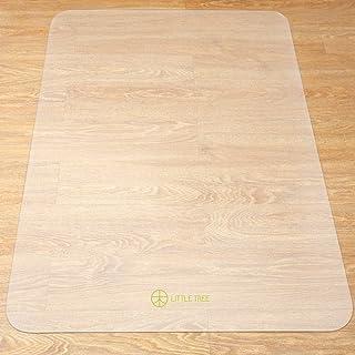 LITTLE TREEチェアマット マット デスク 椅子の下に敷くマット 床 きず防止 マット 机の擦り傷防止滑り止め カット可能 透明大型デスク足元マット フローリング/畳/床暖房対応  (120×90cm 厚1.5mm)