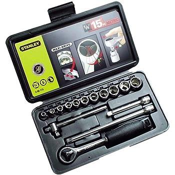 Vetrineinrete/® Chiavi a bussola 40 pz con cricchetto reversibile e prolunga in custodia rigida utensili fai da te F8