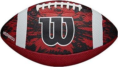 Wilson WTF1592XB Balón de Fútbol Americano, deep Threat Red/Black, Uso Recreativo, Tamaño Oficial, Goma, Rojo/Negro/Blanco