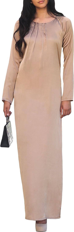 Artizara Elsa Mocha Beige Modest Long Sleeve Formal Evening Gown Maxi Dress