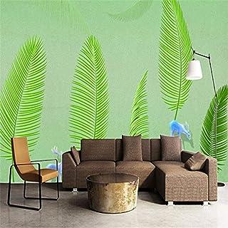 Pwmunf 3D Wallpaper Green Wallpaper Tree Feature Wall Mural Nature Photos Hd Living Room Artistic Wall Decoration Ideas Id...