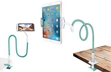Xtore® Extra Long Universal Mobile and Tablet Holder with 360° Rotation   7th Generation   Ultra Premium (Sea Green)