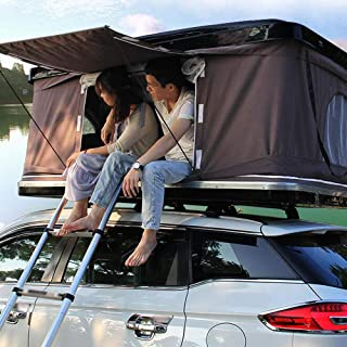 Camper Hard Shell Pop Up Roof Top Tent for Camping Hiking(Remote/Battery Operated)