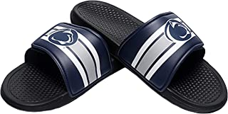 FOCO NCAA Mens Legacy Stripe Sport Slide Flip Flop Sandals