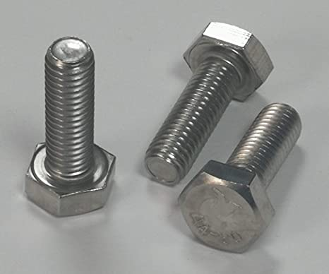 10 St/ück Sechskantschrauben DIN 933 V2A VA Edelstahl M5 x 12 Gewindeschrauben Schrauben