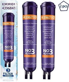 Kenmore 46-9930 Filter 1 3Pack W10295370A Water Filter Cap Replacement for W10295370 EDR1RXD1 P4RFWB Kenmore 9081 P8RFWB2L