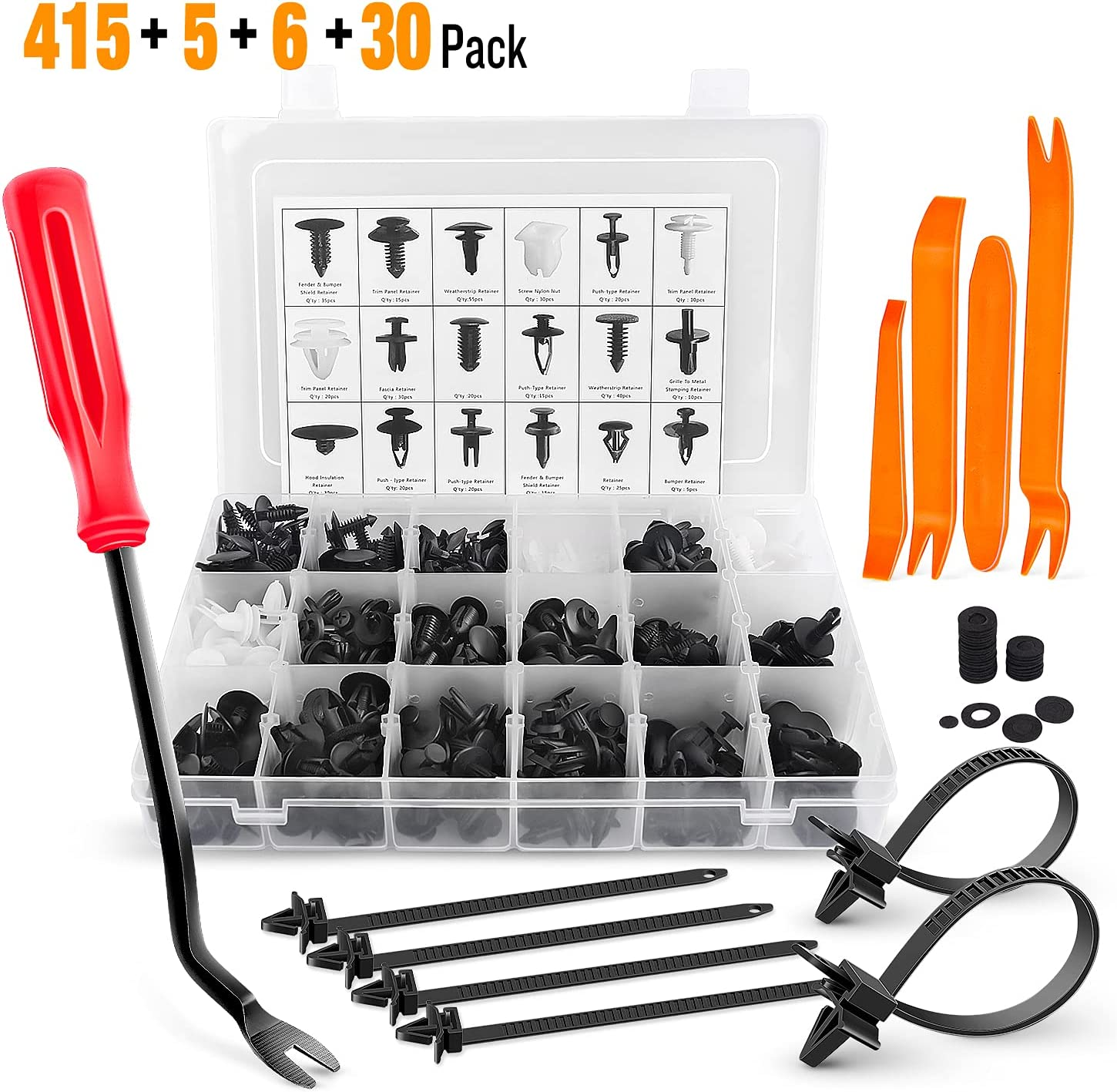 GOOACC 415 Pcs Car Retainer National uniform free shipping Clips Discount is also underway Most - P 18 Remover Fastener