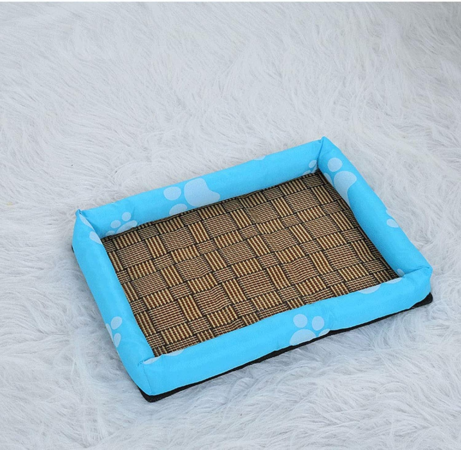 Dog Bed Cat Bed Pet Nest Summer Mat Ice Kennel Print Tarpaulin Cat Kennel Mat Size Dog General Pet Bed (color   Bronze, Size   XXL)