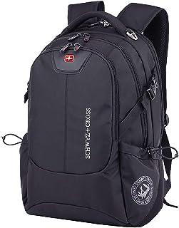 حقيبة ظهر للكمبيوتر المحمول متعددة الوظائف سويسرية 17.3 بوصة، حقيبة مدرسية، منفذ شحن USB مقاوم للماء، حقيبة المشي لمسافات ...