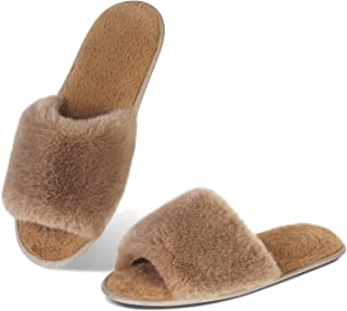 Sponsored Ad - Slippers-for-Womens Warm Memory Foam Anti-Slip House-Shoes Soft Plush Breathable-Slippers Indoor or Outdoor