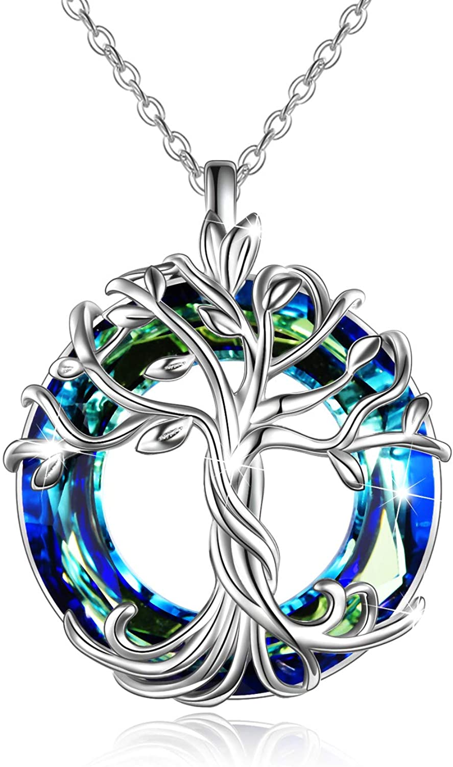 Amazon.com TOUPOP Tree of Life Necklace 20 Sterling Silver ...