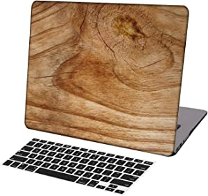 KSK KAISHEK Laptop Case for MacBook Air 13 inch(2018-2020 Release,Retina Display,M1) Model A2337 A2179 A1932,Plastic Hard Shell Keyboard Cover,Wood Grain