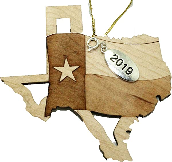 Twisted Anchor Trading Co Texas State Ornament Flag Christmas Ornament 2019 Laser Cut Engraved Wood Ornament Comes In A Gift Bag So It S Ready For Giving