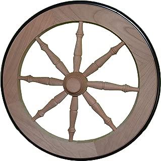 Tea Cart Wheel - 14.5 Inch Cherry Tea Cart Wheel with Rubber Tire