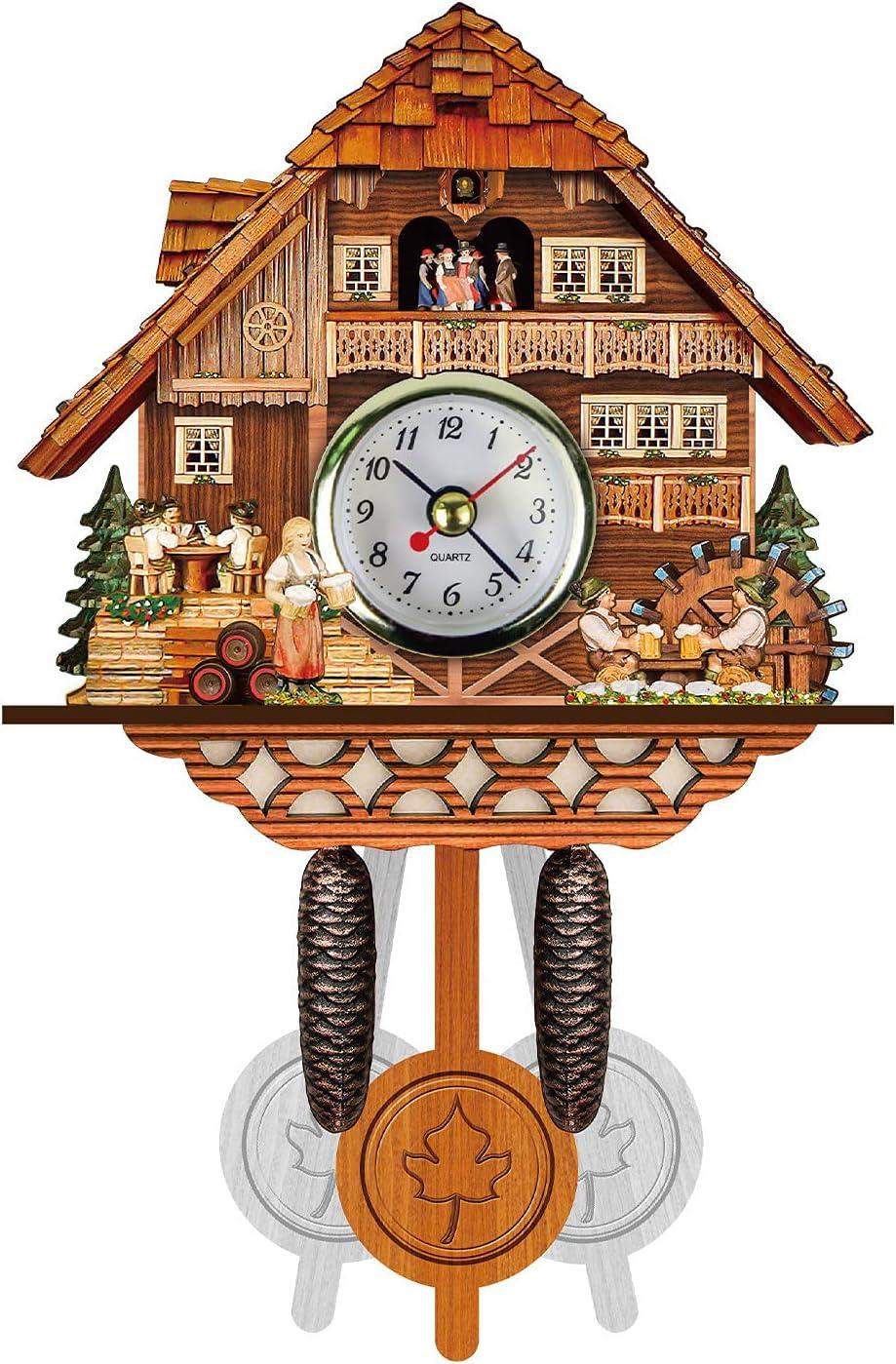 Philadelphia Mall Farmhouse Cuckoo Wall Clock with No Ranking TOP14 Sounds Wooden Retro