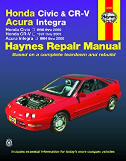 Honda Civic & CR-V & Acura Integra (94 - 01): Honda Civic - 1996 Thru 2000 - Honda Cr-V - 1997-2001 - Acura Integra 1994 T...