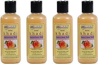 Khadi Rishikesh Herbal Apricot Body Wash combo set pack of - 4 x 210 ml (840 ml)