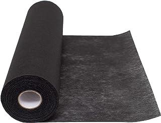 100 % Mosel fleece bordslöpare, i svart (30 cm x 25 m), dekorativt tyg, ädel bordsdekoration för födelsedagar och bröllop,...