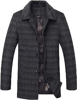 BININBOX Abrigo de lana y chaqueta acolchada gruesa para hombre abrigados en invierno