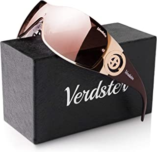 Verdster Casual Shield Sunglasses For Women - Rimless...