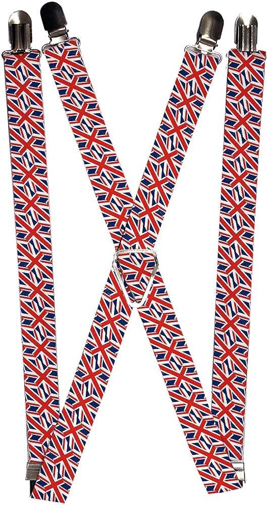 Buckle-Down Men's Suspender-United Kingdom, Multicolor, One Size