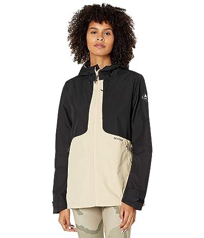 Burton GORE-TEX(r) Infinium Multipath Jacket (True Black/Irish Cream) Women
