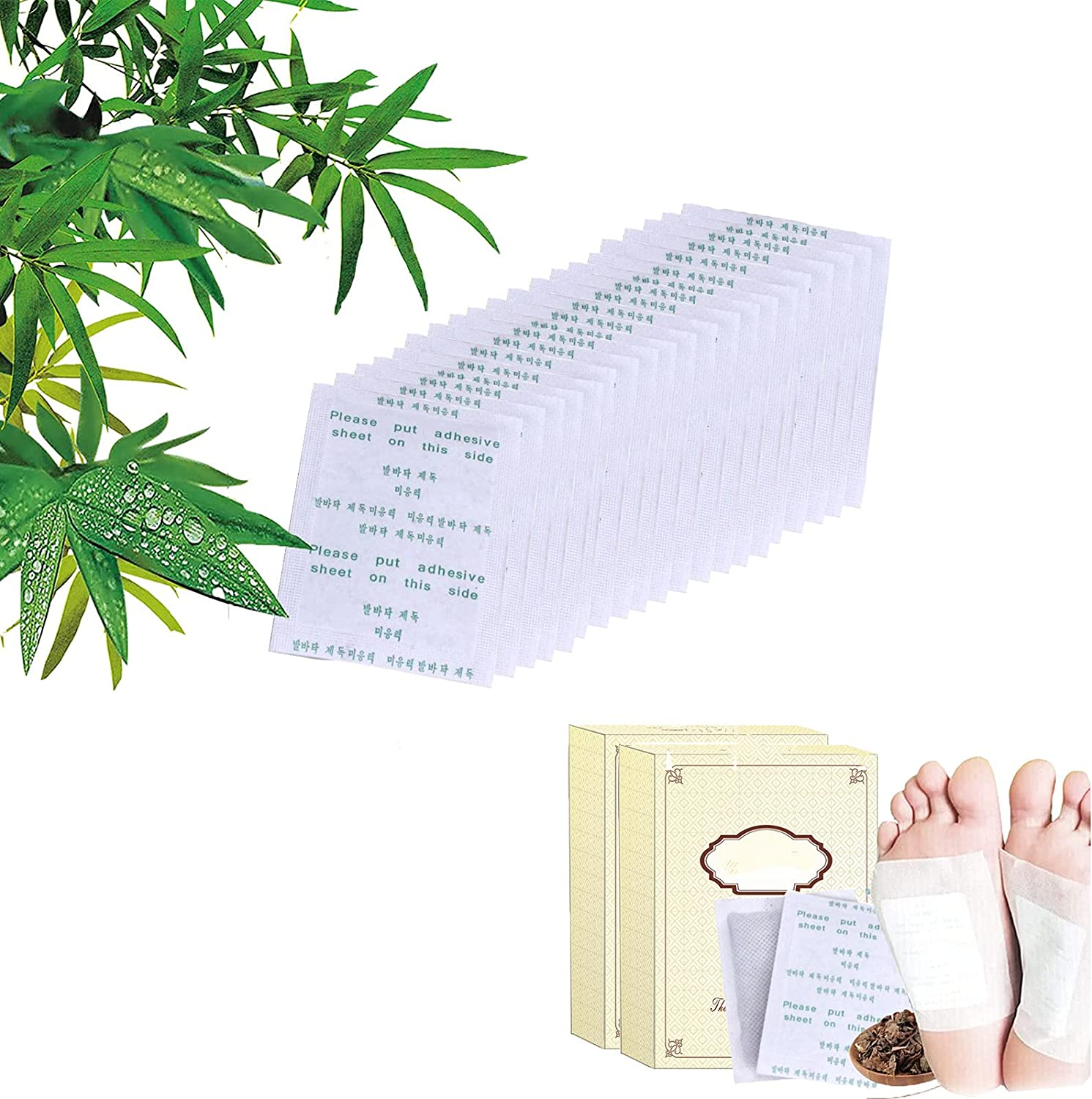 20 PCS Recommendation Bamboo Genuine Free Shipping Vinegar Purify Foot Cleansing Pad Patches Natural