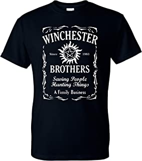 Winchester Brothers Whiskey Style Unisex T-Shirt - New Black